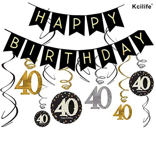 Decoracion Cumpleaños de 40 Cumpleaños Para 40 Cumpleaños Mujer y 50 Cumpleaños Hombre de Paquetes de Fiesta Para Damas y Hombres