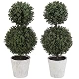 MyGift Artificial Boxwood Topiary...