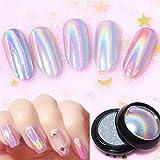 Oulensy 0,5 G/Top Box-Grad Holográfica De Clavo En Polvo Glitters Holo Rainbow Nail Polvo del Polvo del Clavo De La Manicura del Arte
