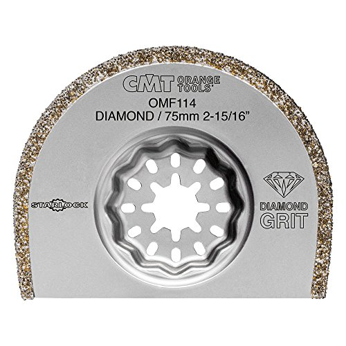 Great Deal! CMT omf114-x1 Segment Blade 75 mm Extra-Long Life with Diamond Coating for Masonry, Gr...