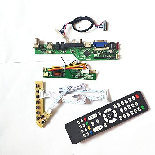 LP150X05-A2C1/A2K3 1CCFL 30-Pin LVDS VGA HDMI AV USB RF Fernbedienung + Inverter + Tastatur LCD Display Panel T.V53 Controller Board Kit (LP150X05-A2C1)