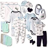 Luvable Friends baby boys Gift Cube Layette Set, Train, 0-6 Months US