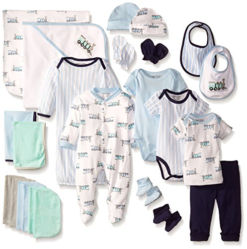 Luvable Friends Unisex Baby Layette Gift Cube, Train, 0-6 Months