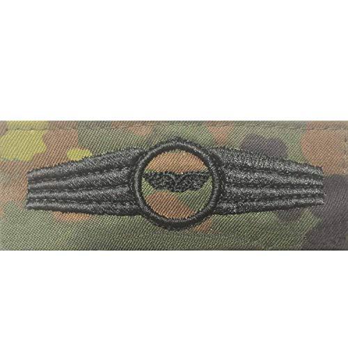 Bundeswehr Tätigkeitsabzeichen Stabsdienst Schwarze Stickerei auf Flecktarn-farbenen Original Stoff