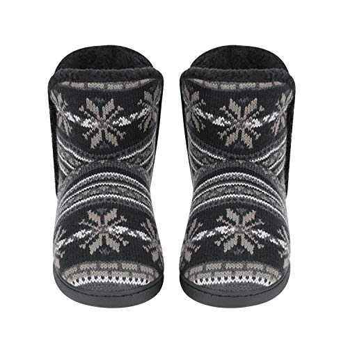 [LONTG] ルームブーツ ショートシューズ おしゃれ ポへシミアン調 レディース メンズ ルームシューズ かかと付きスリッパ 靴のまま 室内履き 外履き ボア付き あったか 防寒シューズ 冬用靴 滑り止め 履きやすい 事務室 オフィス ブラック