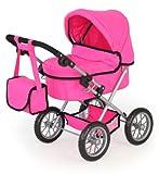 Bayer Design 13029Aa, Cochecito, Carro Muñecas Trendy, Ajustable, Plegable, Rosa, Color (13029)