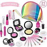 TwobeFit Kids Makeup Kit für Mädchen, Pretend Makeup Set für Kinder Pretend Play Makeup...