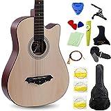 MSHK Guitare Classique Acoustique Débutants Instruments De Musique Et Sono (Adulte) 10 Coloris Au Choix,B