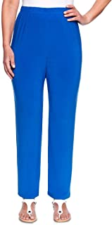 Womens Classic Fit Pull On Casual Pants