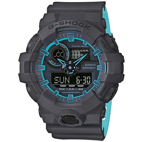 Casio Orologio Cronografo Quarzo Uomo con Cinturino in Plastica GA-700SE-1A4ER