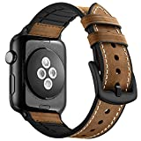 HEAWAA [2018 Version] Lederarmband iWatch Armband 42/ 38MM,Strap Echtes Armband für Apple Watch,...