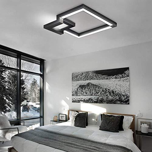 Techo de luz LED, suave cambio de color, luz blanca con 50cm, iluminación de techo, luces pendientes de pasillo, baño, sala de estar de la lámpara, diseño geométrico de la lámpara de 30W, tamaño: 50 c