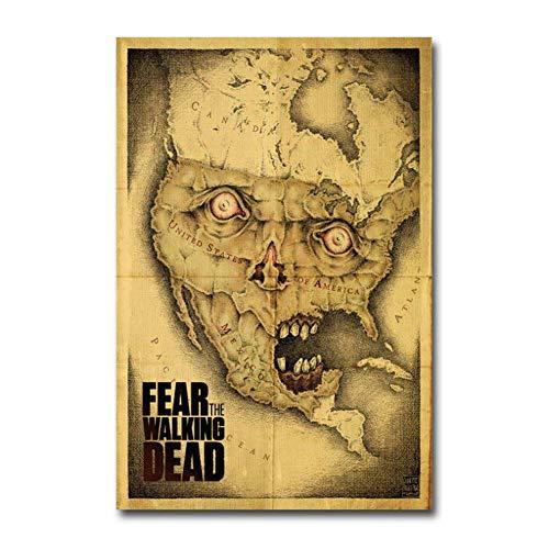 NRRTBWDHL Fear Walking DeadFilm Wandaufkleber Poster Art Light Canvas Home DecorationDruck auf Leinwand Wanddekoration-50x70cm No Frame