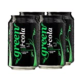 Green Cola Bebida sin azúcar, sin asfatamo, sin conservantes, solo aromas naturales, incluye depósito (lata de 0,33 l, 4 unidades)