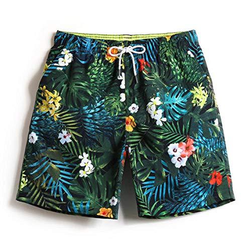 XXYQ Shorts Rot Gedruckte Kurze Absatz Schnell Trocknende Damen Herren Shorts Lässig Strand Boxershorts-Men_XXXL