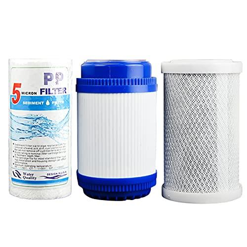 LZH FILTER Conjunto Elemento Filtro Universal Elemento Filtro Purificador Agua 5 Pulgadas, Elimina Las Impurezas Y Mejora El Sabor, Elemento Filtro Tres Etapas 5 Pulgadas para Hogar Cocina