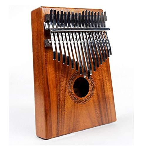 Piano Portable Kalimba 17-Key Kalimba Afrikaanse Houten Thumb Piano Standard C Finger Piano Metal Tone Met Tuning Hammer voor kinderen Volwassen beginners (Color : Wood, Size : FREE SIZE)