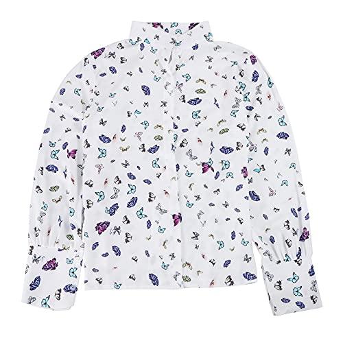 Zebin Maxi Maglia per Leggings Top Camicia da Donna con Colletto alla Coreana e Stampa Digitale Dimagrante Slim