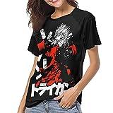 huatongxin Anime Sword Art Online Camiseta de béisbol Raglan de Manga Corta clásica para Mujer Camisetas Deportivas con Cuello Redondo