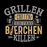 Grillschürze Grillen Chillen Bierchen killen – Lustiges Geschenk für echte Männer und Grill-Fans - 2
