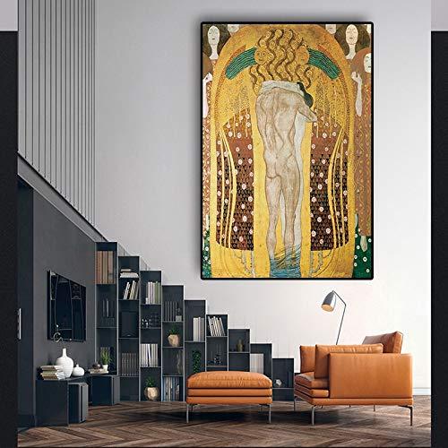 Split Maler Ölgemälde Bild Poster und Wandbild auf Leinwand Wohnzimmer rahmenlose Malerei 60x90cm