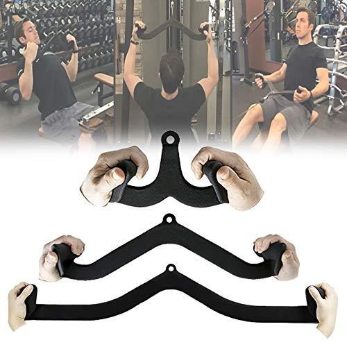 Trizeps Bodybuilding Kabelzuggriff, Studio Fitnessturm Rudergriff, Fitness Riemenscheibe Kabelmaschine Griffe für Haus Kabel Zubeh, Bizeps Trainingshilfen,1
