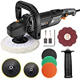 TACKLIFE Polisher, 12.5Amp 1500W Variable Speed Buffer Polisher, 7-Inch/6-Inch...
