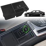 Paobiy Cargador inalámbrico para coche compatible con Audi A4L/A5/RS5/RS4/S4/S5 2017-2021 panel de accesorios de consola central,10 W Qi carga rápida cargador de teléfono,para iPhone Pro/X/XR, Samsung