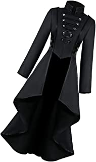 Baoblaze Women's Steampunk Dovetail Coat Black, Women's Long Trench Coat Steampunk Uniform Costume Party Outwear Gothic Coat