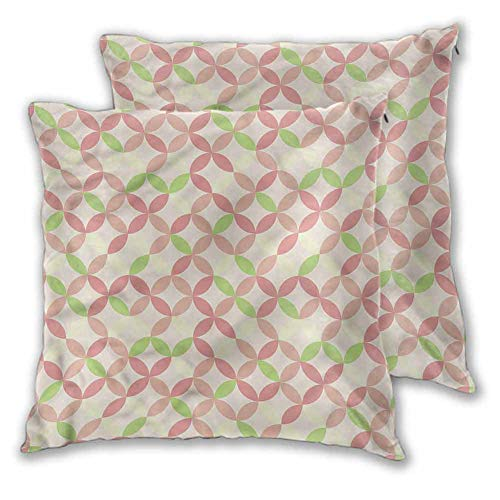 Travel Pillow Blush Sofa Bedroom Car Decorative Colorful Overlapping Circles W23 xL23