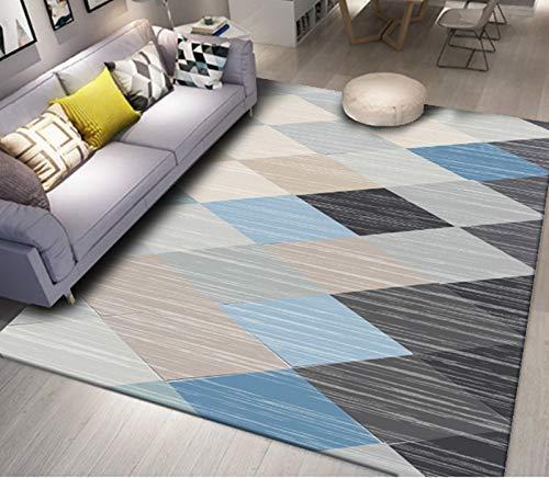 Karpetten Simple Nordic Geometrische Carpet moderne Amerikaanse woonkamer koffietafel Sofa Tapijt Slaapkamer Kamer Vloerbedekking 80X120 Cm Nc09 Blauw Zwart Home Decoration ZHW345