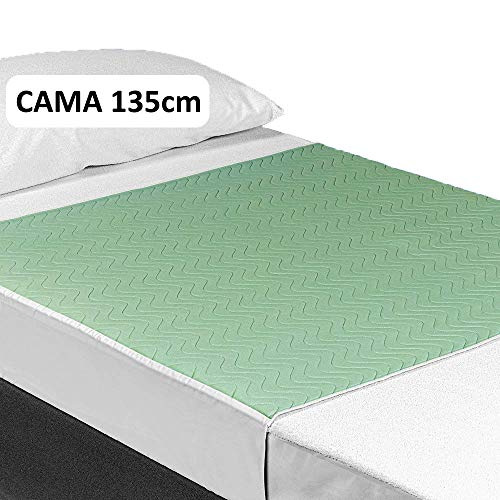 OrtoPrime Empapador Cama Adulto Lavable 135cm - Absorción 3,15 Litros m2 - Empapadores Geriátricos Más de 200 Lavados - Empapador Protector de Cama Reutilizable con Alas