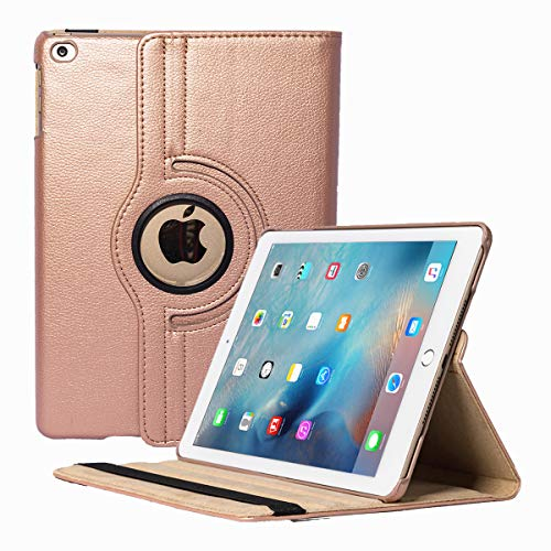 Zerobox Apple iPad 2018 9.7/2017 9.7/iPad Air 2/iPad Air 9.7 inch Hülle,360 Degrees Rotating Multi Angles Screen Protective Stand with Auto Sleep/Wake Smart Cover (Rose Gold)