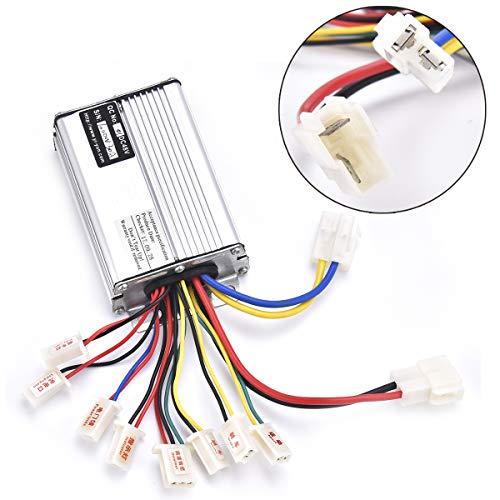 Wingsmoto - Controlador de 48 V, 1000 W, para scooter de motor eléctrico escaneado con terminal de conector de batería, color blanco