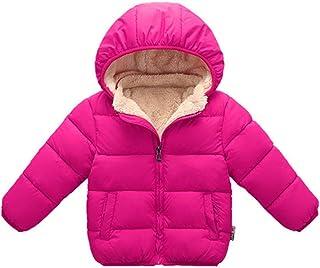 Toddler Baby Hooded Down Jacket Boys Girls Kids Thicken Warm Winter Coat Outerwear 1-7t