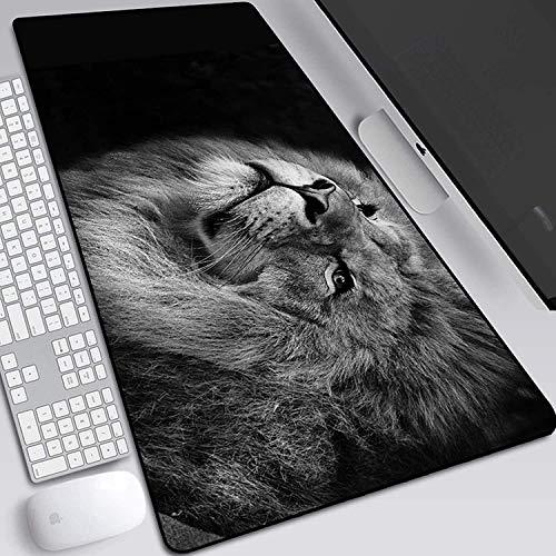 Wtbew-u Alfombrilla para ratón para Juegos, Leopard Tiger Lion Extended Mouse Mat Mat Desking Pad Impermeable para la computadora PC Home PC (Color: 13, Tamaño: 700 * 300 * 3mm)