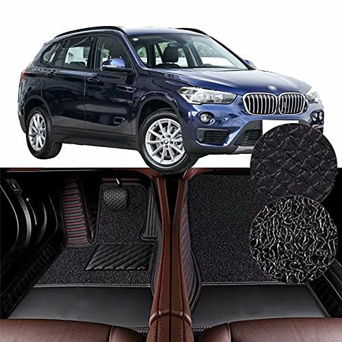 QCYP Alfombrillas para Coches Adecuado para Neumático BMW X1 sDrive18Li: SUV de 5 Puertas y 5 plazas 225/55 R17 2019 Alfombrillas para Todo Tipo de Clima Alfombras de Auto,LHD
