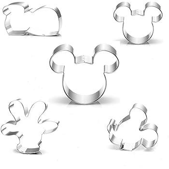 KENIAO Mickey Mouse Cortadores Galletas para Niños - 4 Piezas ...