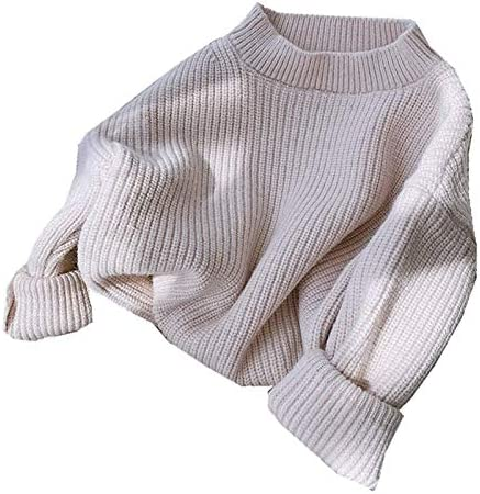 Infant Toddler Baby Girls Solid Color Pullover Sweat Blouse Cable Knit Sweatershirt Crew Neck product image