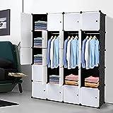 Zuoox Organizador de almacenamiento para armario, armario, armario, 20 cubos apilables, de plástico, diseño de estantes de almacenamiento multifuncional, modular