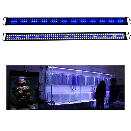 KZKR LED Aquarium Hood Lighting 72 - 78 inch Fish Tank Light Lamp for Freshwater Marine Saltwater Blue and White Decorations Light 6-7ft (34W) 180cm - 200cm