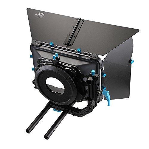 Fotga DP3000 Matt Box für 15mm Schiene Grundplatte Folgen Fokus A7 A7R A7 II III GH4 GH5 5DIII 5DIV Objektiv (M3 Matte Box)