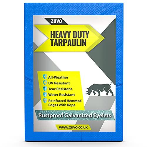 ZUVO Waterproof Multifunctional Blue Tarpaulin, 5 Mill Thick Heavy Duty...