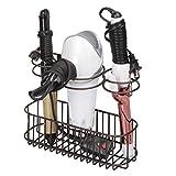 mDesign Soporte de pared para secador de pelo – Práctico