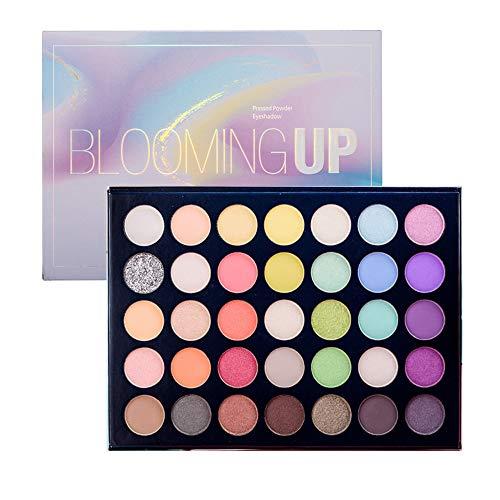 Beauty Glazed Blooming UP Professionelles buntes Lidschatten-Make-up 35 Helles buntes mattes...