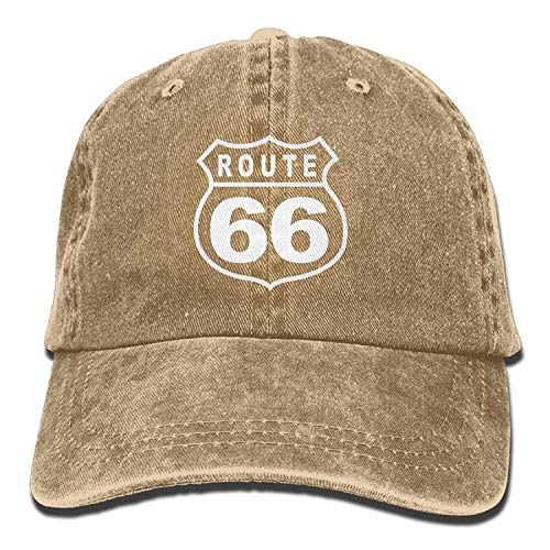 Mens Women Dad Hat Vintage Route Sixty Six Road Sign Snapback Printed Caps