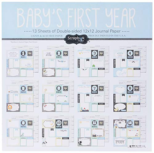 Scrapbook Customs 36967 Baby Boy First Months Scrapbooking Kit  