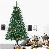 Froadp 150cm Árbol de Navidad Artificial con Soporte Estable y 300 Ramas de Simulación Tradicional para Navidad Decoración de Fiesta de Manualidades(PVC con Efecto Nieve)