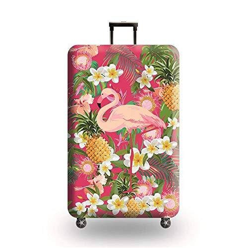 Cubierta de Equipaje Funda de Maleta XL:30-32 Inch con Cremallera Funda Maleta Suave elástico de Anti-Polvo(Flamenco Rosa)