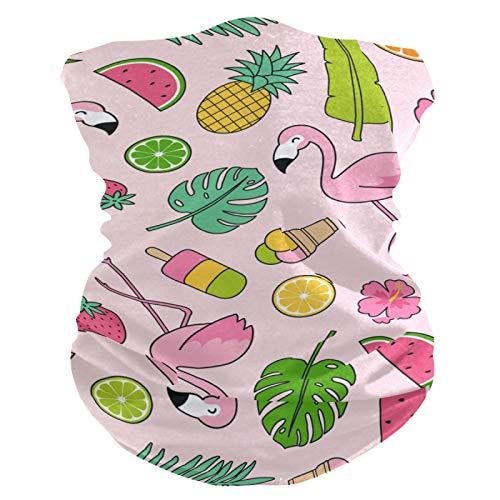 RELEESSS - Mscara de flamencos tropicales con diseo de pia, lavable, para la cabeza, corbatas para el pelo, bufanda, diadema, multiusos, para hombres y mujeres, unisex